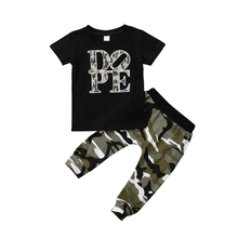 Newborn Kids Camouflage Clothes Baby Boys T-shirt Top + Long Pants Outfits Clothes Set
