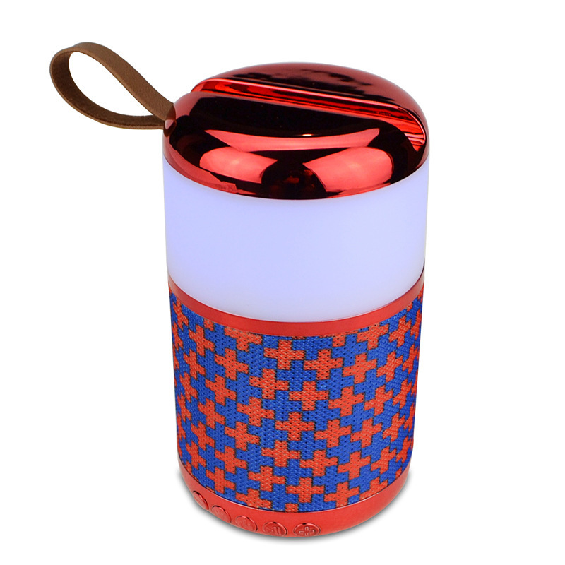 Portable Colorful Lights Bluetooth Speaker Subwoofer Wireless Speaker With Mobile Phone Holder Fm Tf Aux Haut Parleur Bluetooth in Portable Speakers from Consumer Electronics