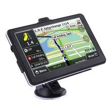 """2017 Nowy 800X480 7 """"Ekran Dotykowy TFT LCD HD Ciężarówka Samochodów GPS Navigator 800 MHZ FM/8 GB/DDR 128 M Nowy mapy Wsparcie TF/MMC Maximium 32 GB"""
