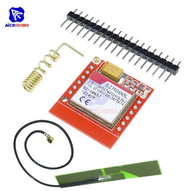 SIM800L GPRS GSM מודול מיקרו SIM כרטיס Core Quad-band TTL יציאה טורית אנטנת PCB אלחוטי WIFI לוח עבור arduino חכם טלפון
