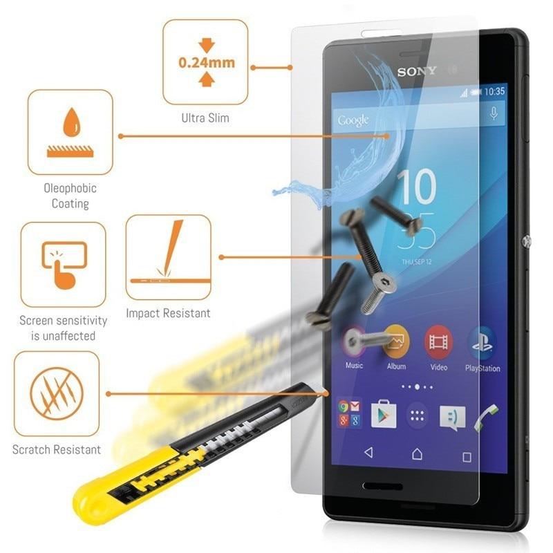 Dreamysow закаленное Стекло крышка Плёнки для Sony Xperia Z Z1 Z2 прозрачный Экран протектор для Sony Xperia T3 C4 E3 e4 M2 M4 M5