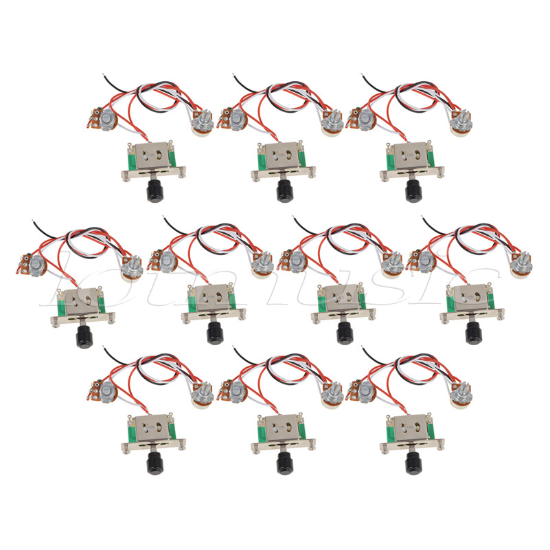 10Sets Prewired Guitar Wiring Harness 250k Pots 3 way Switch For Fender Tele Guitar Replacement все цены