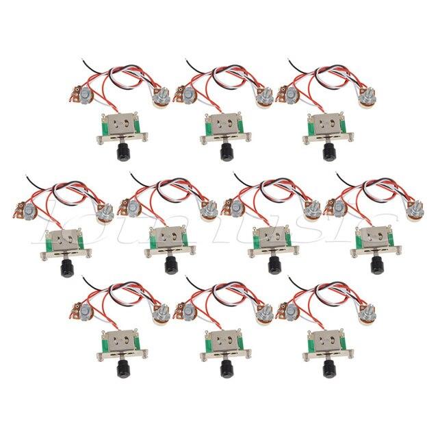 10sets prewired guitar wiring harness 250k pots 3 way switch for10sets prewired guitar wiring harness 250k pots 3 way switch for fender tele guitar replacement