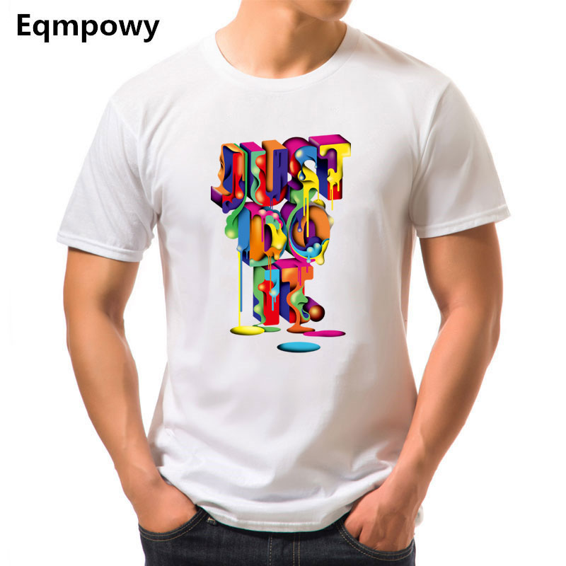 2018 Funny tee cute t shirts homme 3D JUST DO IT men women 100% cotton cool tshirt lovely kawaii summer costume t-shirt Tops
