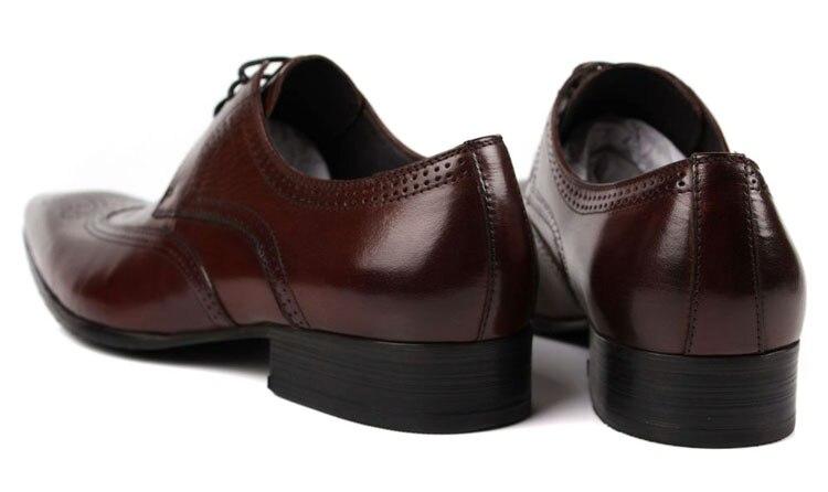 De Couro marrom Bronzeado Sapatos Oxfords brown Tamanho Black Preto Grande Eur45 Vestido Genuíno Casamento Homens Tan Masculinos Dos Negócios gIwvvtzFqx