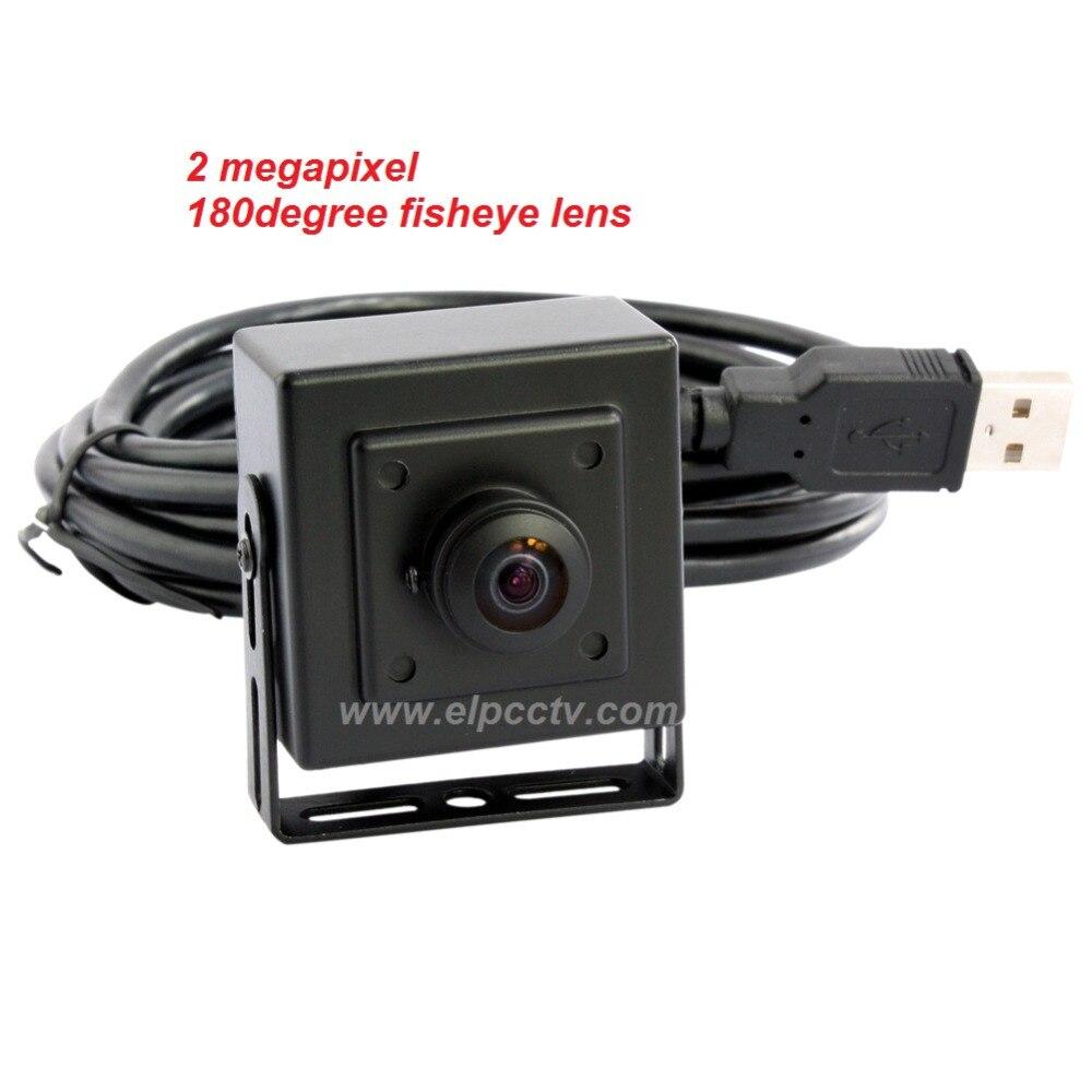 ФОТО Free shipping 2mp aluminum case wide angle 180degree fisheye lens mini camera usb webcam hd 1080P
