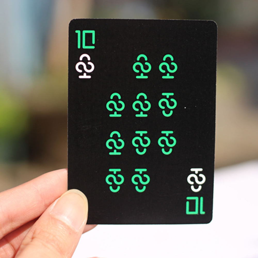 2018 New Gold Black Poker Card Luminous Cool Poker Card Playing In Bar Dark KTV Or Birthday Party Outdoor Special Colorful Poker