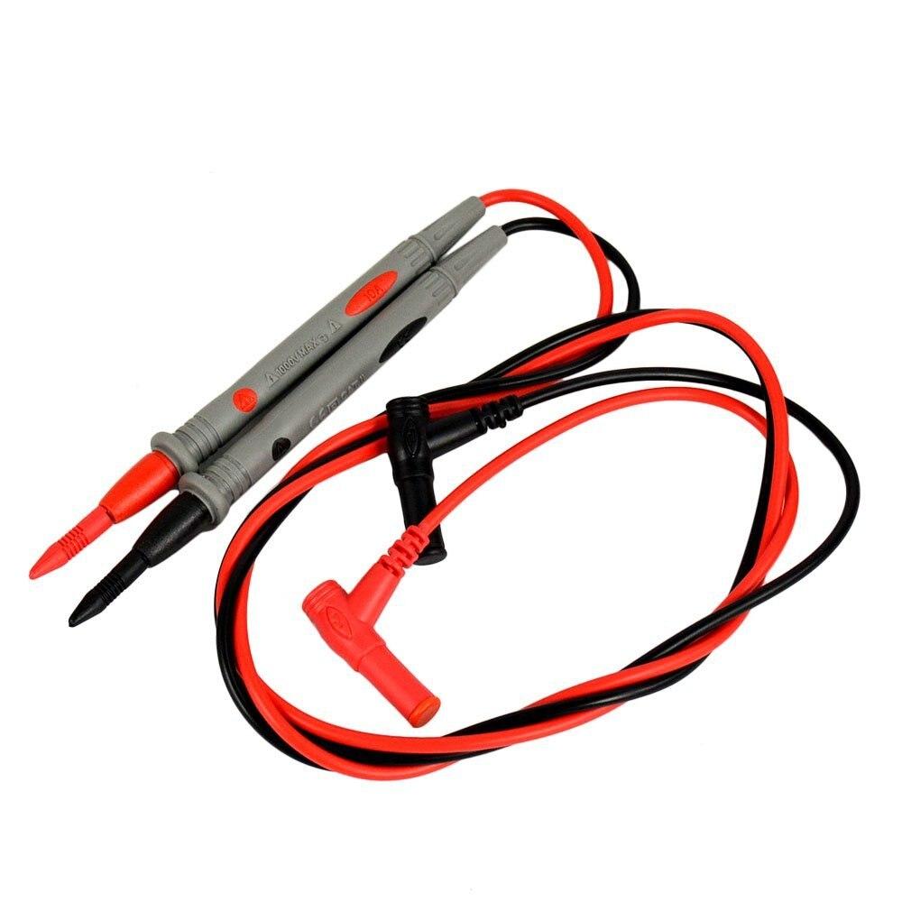 Купить с кэшбэком Flexsteel 1000V 10A Universal Digital Multimeter Lead Probe Multi Meter Test Wire Pen Set Cable Needle Tip Probe