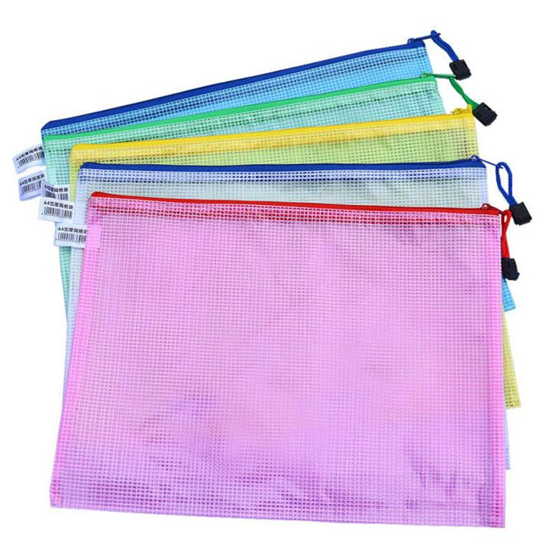 1 Pcs A3 A4 A5 Waterproof Plastic Zipper Paper File Folder Book Pencil Pen Case Bag File Document Bag For Office Student Supply