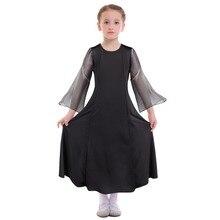 Child Girls Praise Dress Chiffon Splice Long Sleeve Loose Fit for Liturgical Dance Kids Wear Ballet