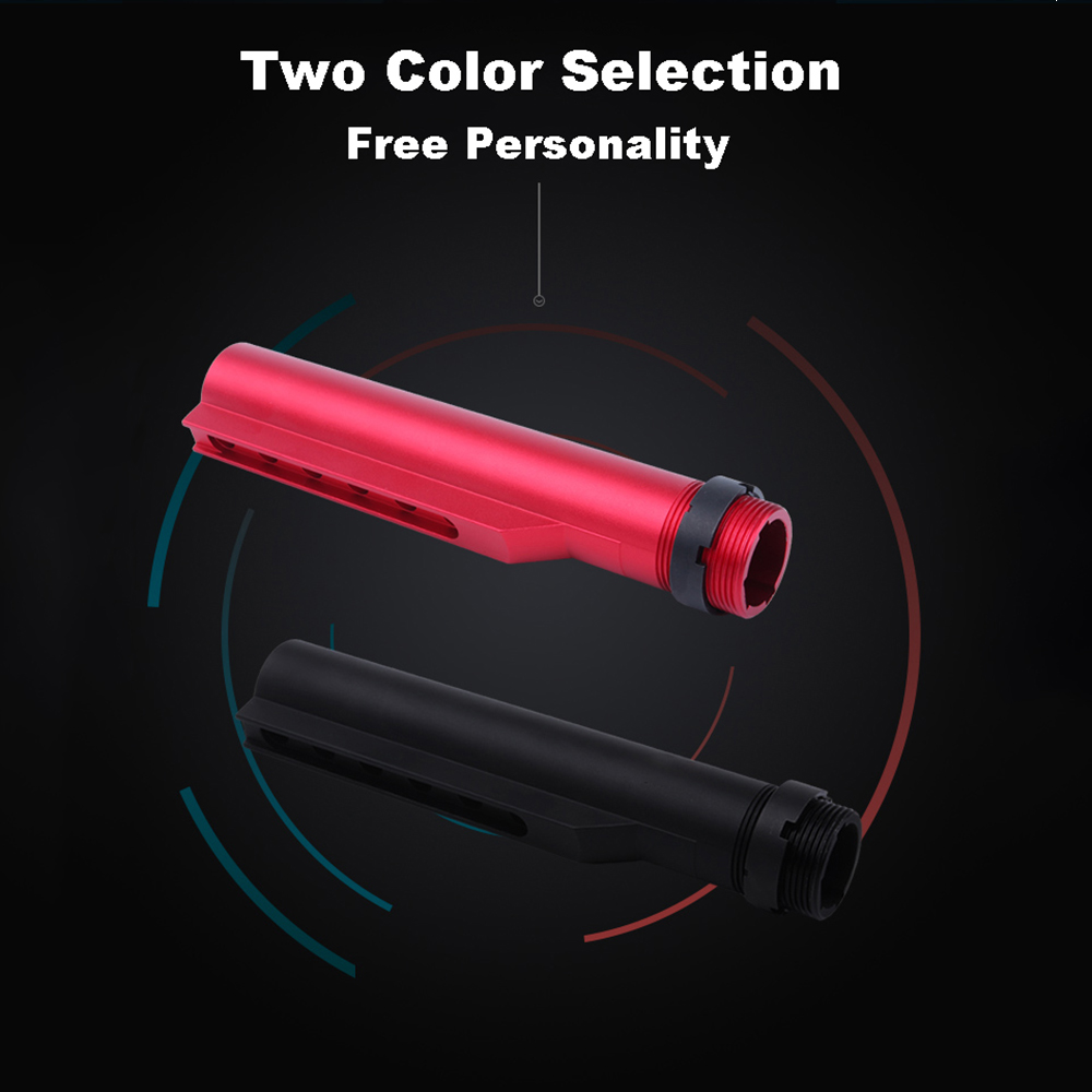 High Quality For AEG M4 M16 Airsoft Air Guns Buttstock Tube With Aluminum CNC Stock Pipe - Black & Red