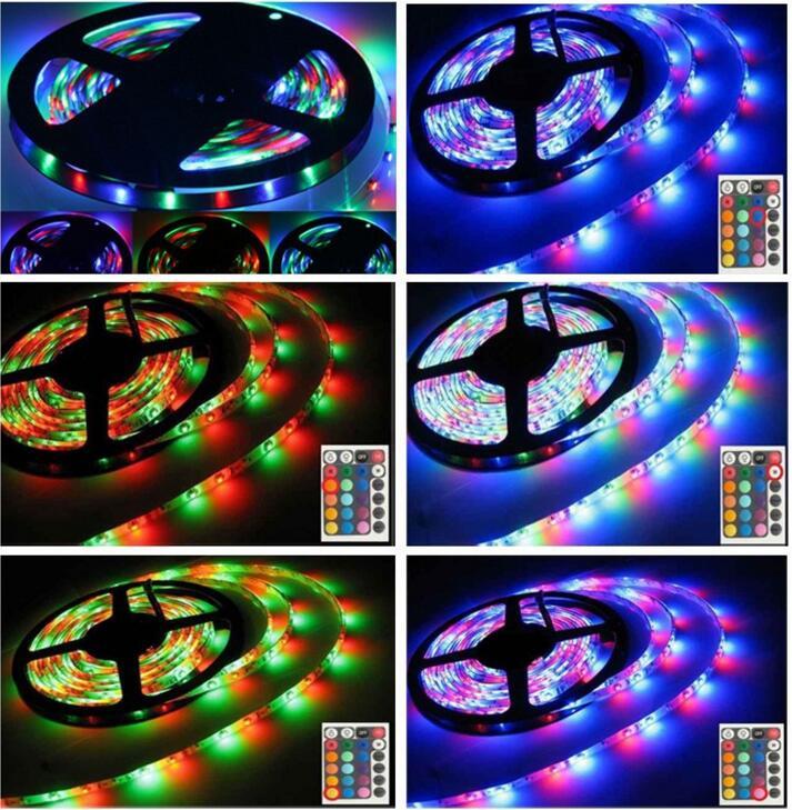 25M IP68 IP67 IP65 3528 RGB 300 Led SMD Flexible Light Strip Lamp 24 key IR 12V Flexible Light Led Tape Home Decoration Lamps X