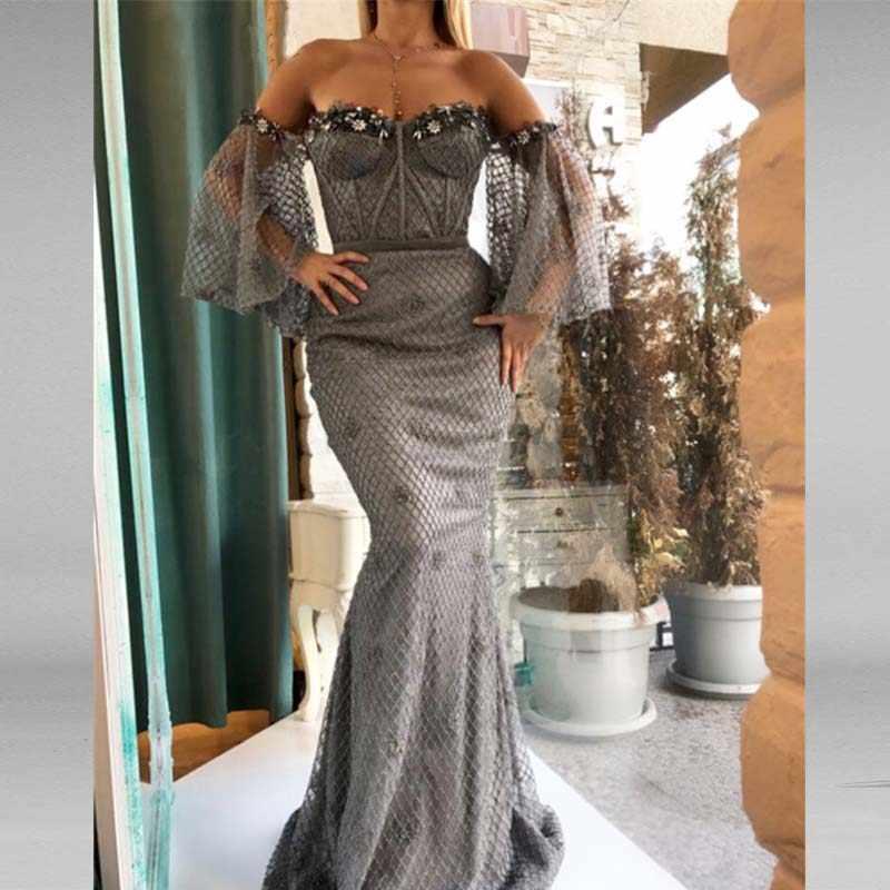 0694f42b7f6c Detalle Comentarios Preguntas sobre Gris elegante sirena vestidos ...