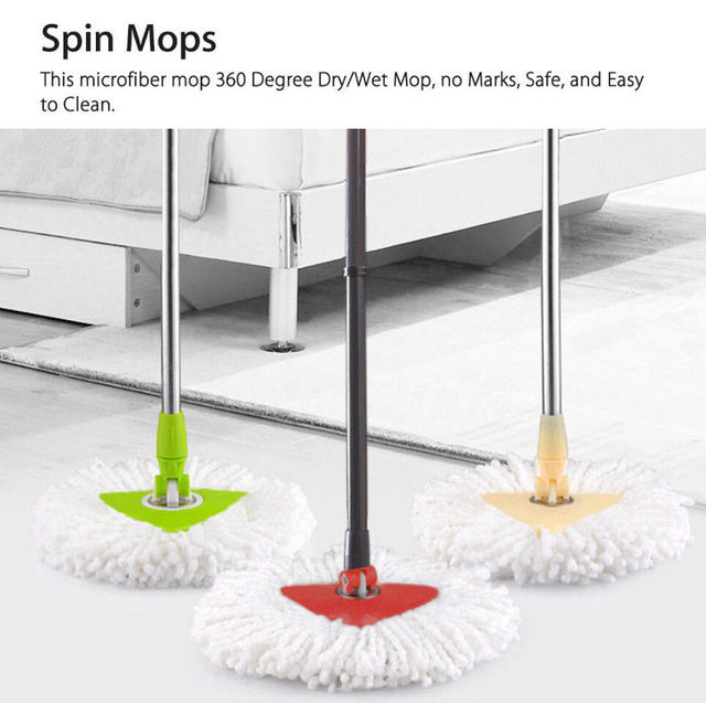 Replacement Heads Easy Cleaning Mopping Wring Spin Mop Triangle Head