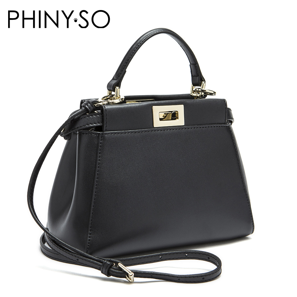 2016 Women Messenger Bags Peekaboo Bag Handbags High Quality Genuine Leather Totes Fashion Shoulder Crossbody Bag Small Tote Bag bailar fashion women shoulder handbags messenger bags button rivets totes high quality pu leather crossbody famous brand bag