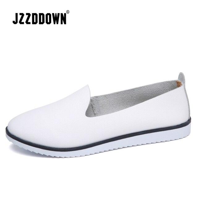 עור אמיתי נשים של קיץ בלט דירות נעלי גבירותיי לנשימה בד אמא נעליים מקרית Sneaker ופרס אופנה הנעלה