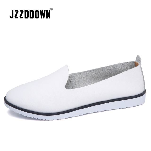 Genuine Leather  Womens Summer Ballet flats shoes  Ladies Breathable Canvas Mother Shoe Casual Sneaker loafers fashion Footwear