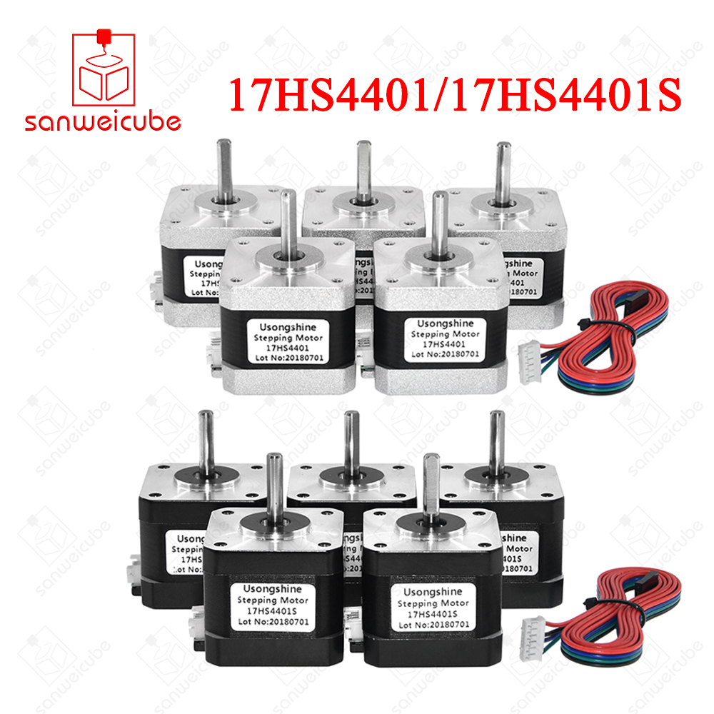 5pcs/lot (17HS4401S) 17HS4401 V5 V6 4-lead Nema17 Stepper Motor 42 motor Nema 17 motor 42BYGH 1.5A (17HS4401S) motor for CNC цена и фото