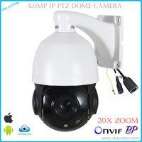Okayvision Nouvelle arrivée 4MP 5 pouce Mini Taille Réseau Onvif IP PTZ vitesse dôme Full HD 20X zoom optique ptz caméra ip 60 m IR