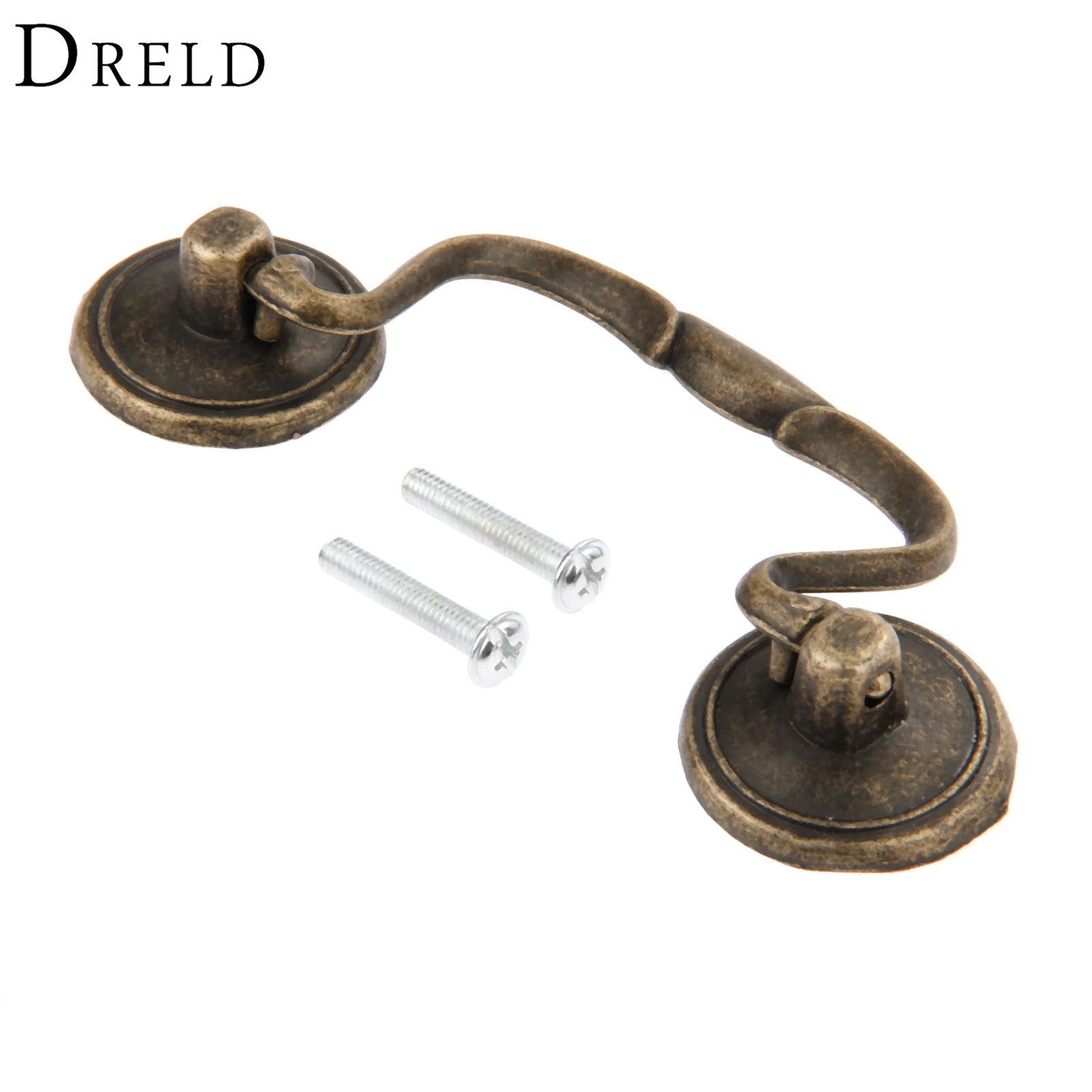 DRELD 82m Antique Furniture Handles Cabinet Knobs and Handles Drawer Door Cupboard Pull Handle Kitchen Knob Furniture Fittings