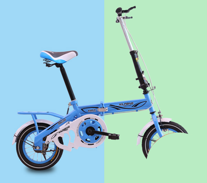 [TB09]Folding Bicycle 12/14/16 Inch Men And Women Small Wheel Diameter Adult Ultra Small Ultra Light Portable Adult Bicycle