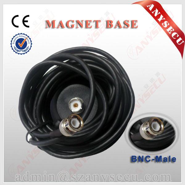 M5-BNC negro diámetro 12 CM Imán imán 5 M cable de alimentación BNC antena base