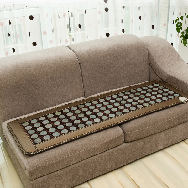 Free Shipping Jade Physical Therapy Cushion Germanium Tourmaline Health Heated Sofa Electric Heat Mats Health Care 50*150CM best selling korea natural jade heated cushion tourmaline health care germanium electric heating cushion physical therapy mat