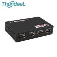 HDMI Splitter Full HD 1080p 2K 4K Video HDMI Switch Switcher 1X2 1X4 Split 1 In