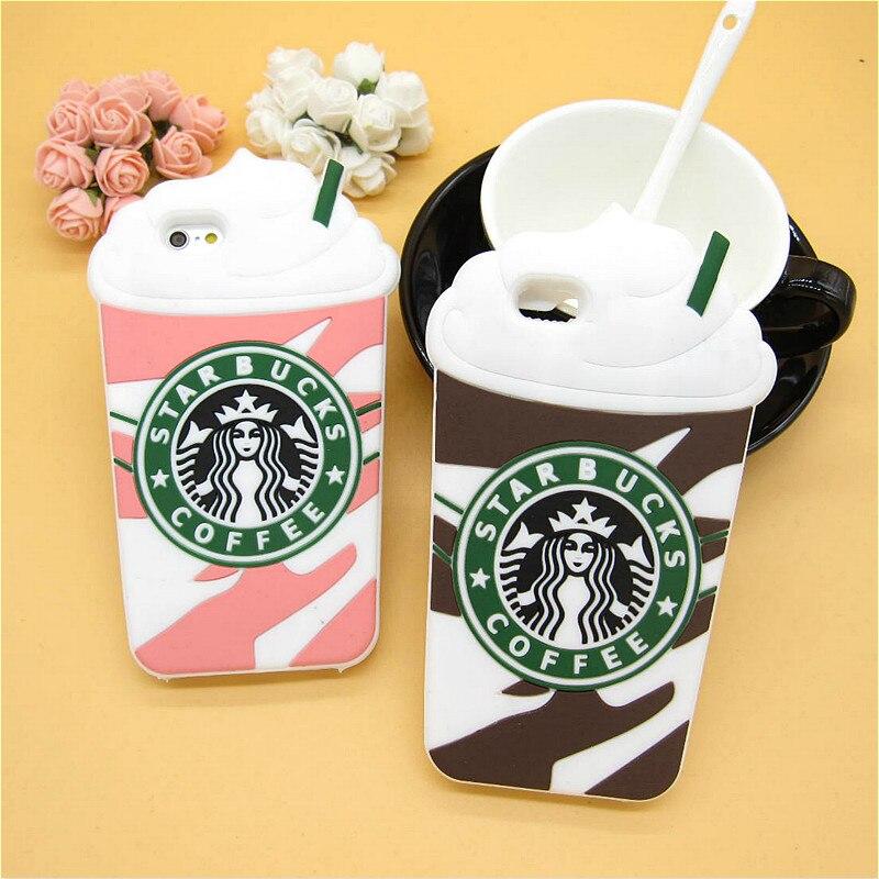 fashion 3d cartoon starbuck coffee rubber soft cute back