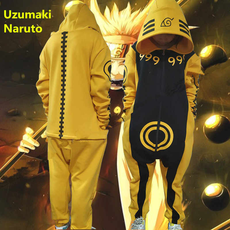1529bf7cde23 Limited Edition NARUTO Uzumaki Naruto Battle Kurama kyuubi Cosplay Costumes  Pajamas Men Woman Teens Kids Warm