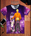 Anime 3D T-shirt de Algodão Estilo da Aptidão do Verão Camiseta Naruto Anime Filme Tshirts Hip Hop Um Pedaço T Camisas