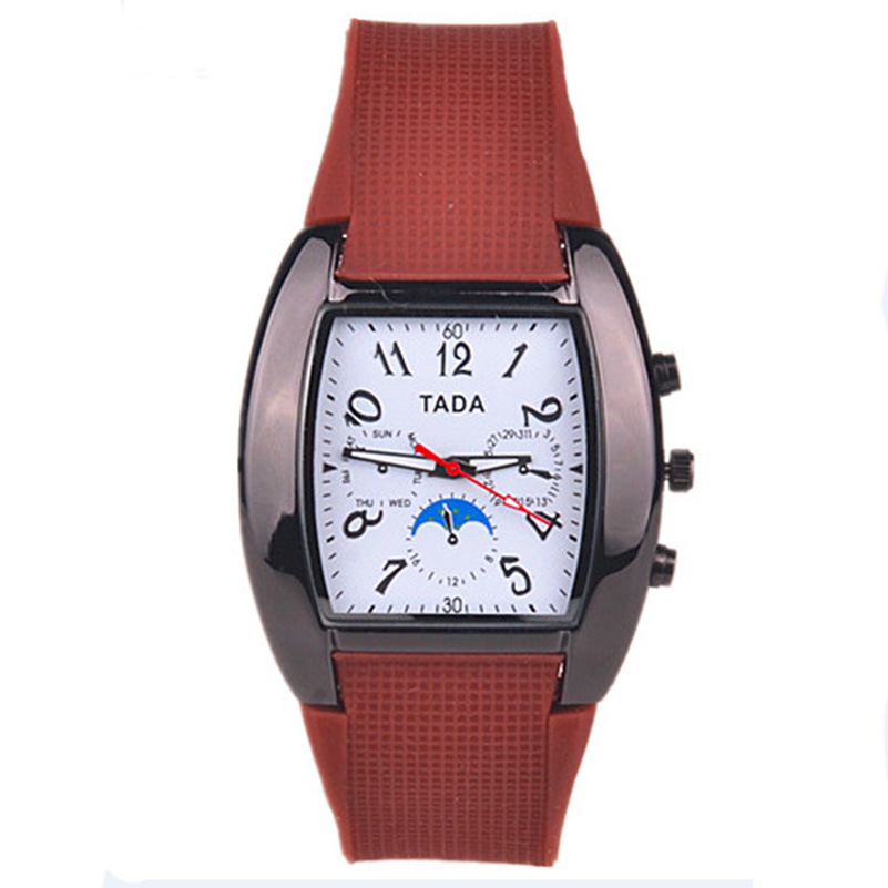 2016 new product TADA brand fashion pu plastic band excellence quartz movement mens watches high tech and fashion electric product shell plastic mold
