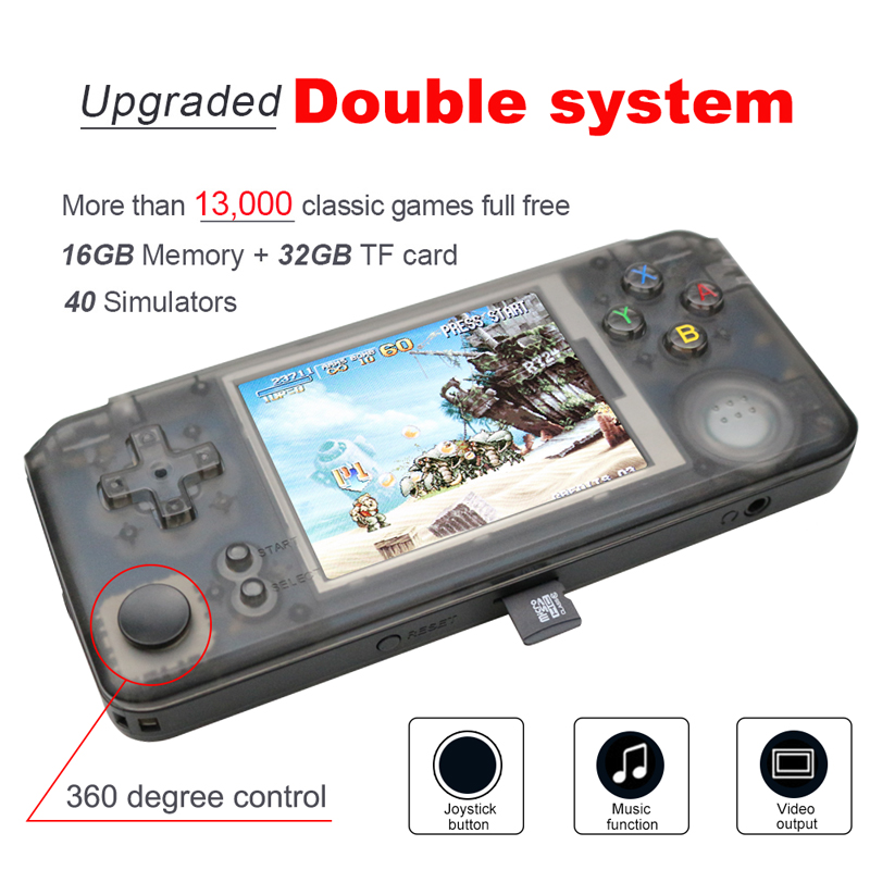3.0 Inch Handheld Game Console Built in 3000 Classic Games 16GB Retro Console Support For NEOGEO/GBC/FC/CP1/CP2/GB/GBA-in Handheld Game Players from Consumer Electronics    2