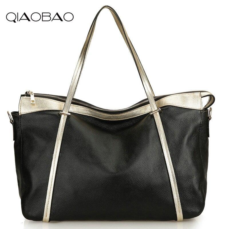 Qiaobao леди Повседневное Tote Пояса из натуральной кожи сумка Винтаж большая сумка дизайнер Сумки через плечо большой плеча Ba