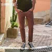 SIMWOOD 2018 Printemps Nouveaux Jeans Hommes Violet rouge Foncé Lavage Slim Fit De Base Denim Pantalon Haute Qualité Mâle Jean 180086