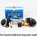 Para Toyota Corolla E120 E130 novena Generación 2000 ~ 2008/RCA AUX con conexión de cable O Inalámbrica/HD CCD de Visión Nocturna de Coches Cámara de visión Trasera