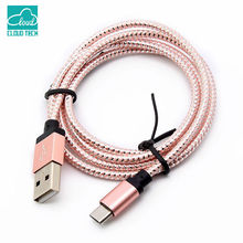 CloudTech 1M/2M/3M3 Micro usb cable nylon braided Dual side charger USB 2.0 A Male to Micro B for Android for Samsung
