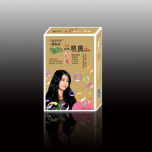 30ml*4 permanent black hair dye cream natural gallnut extract a comb black hair dye non allergic hair color cream