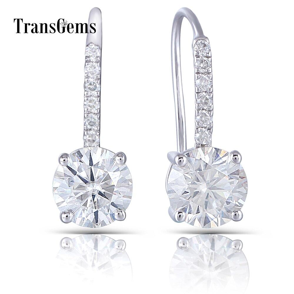 drop earring moissanite silver (1)