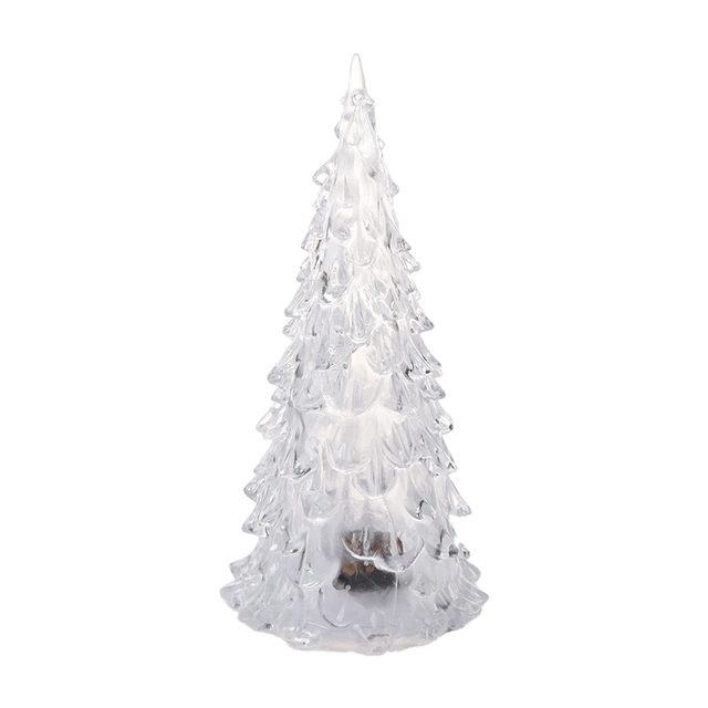 color changing led artificial crystal christmas tree decoration xmas night light - Color Changing Led Christmas Tree