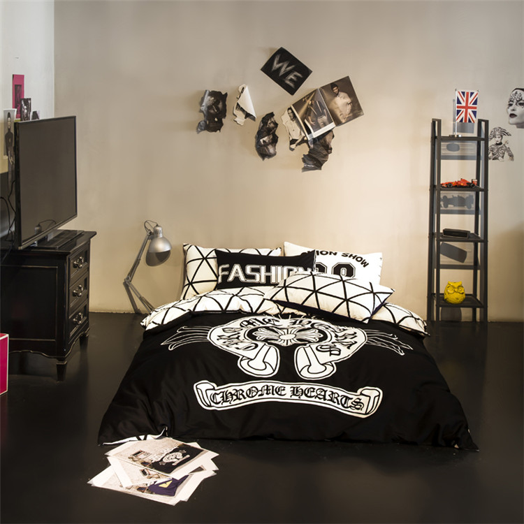 Fashion Bedding Set Black And White Grid Duvet Cover Twin Queen Size Bed Linen Cotton Sheet Bedclothes In Sets From Home