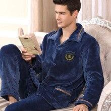 2017 Пижама masculino Для мужчин masculino Pijamas Hombre Invierno новые стильные осень-зима утолщение Для мужчин домашние Услуги Упаковка