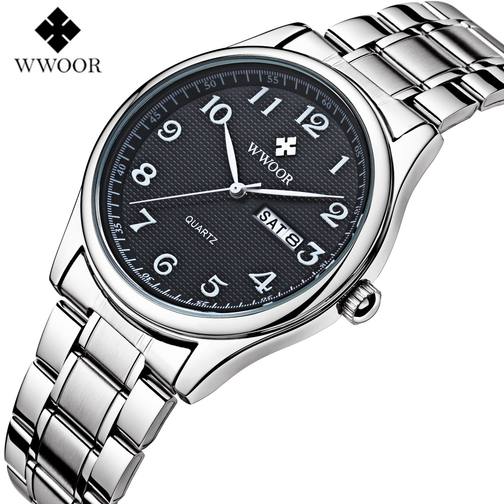 WWOOR 2017 Luxury Steel Stainless Watch Men and Women Casual Quartz business Wristwatches fashion relogio masculino Clock male hot selling fashion stainless steel men business watch clock male casual wristwatches relogio masculino luxury quartz watches 20