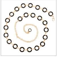 חגורות שרשרת זהב כסף מתכת צדדי תלתן חדש שזיף Womans חגורת מותן שרשרות רצועת Ceinture Femme לשמלת כלה