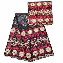 african embroidery fabric cotton bazin riche getzner 2019 new guinea brocade nigerian gele headtie 5+2 yards/lot