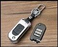 Высококачественный Цинковый сплав + Кожа Автомобилей Случае Ключ Для Honda Accord FIT Crosstour HR-V CR-V Odyssey Civic Spirior брелок Автомобилей Обложки