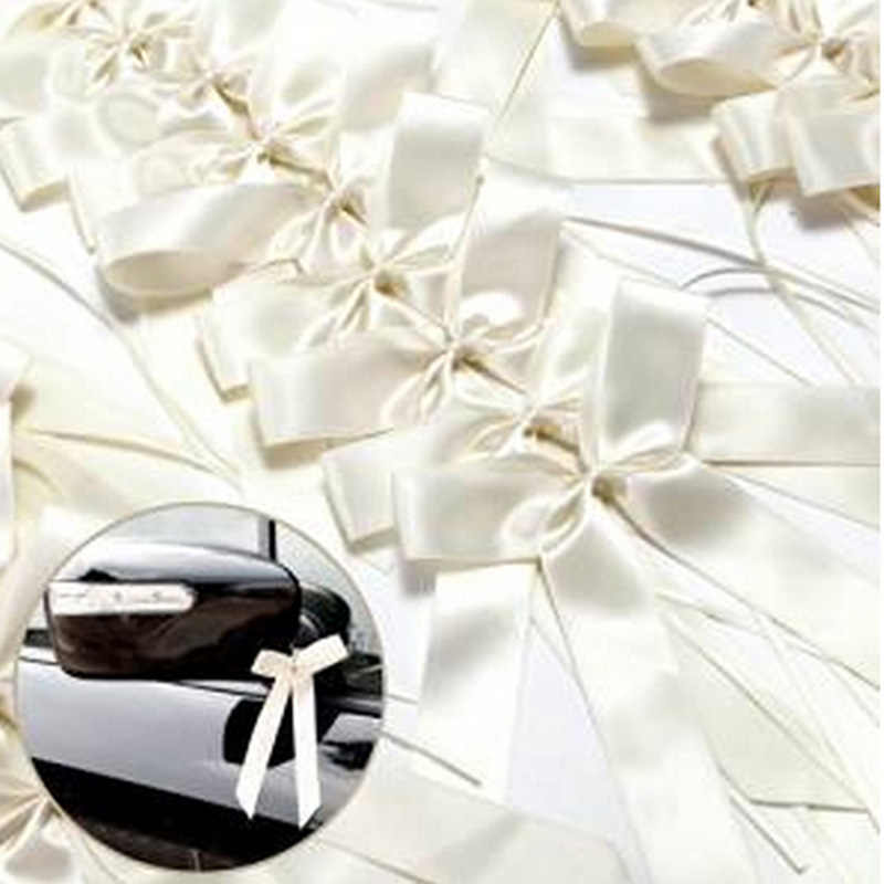 50 Pcs /pack 2 Colors Delicate Wedding Pew End decoration Bow knots Ribbon Bows Party Cars Chairs Decoration Bowknots Hot Sale