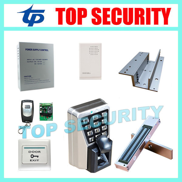 TCP/IP fingerprint and RFID card door access control system IP65 waterproof metal fingerprint access controller reader Kit tcp ip biometric face recognition door access control system with fingerprint reader and back up battery door access controller