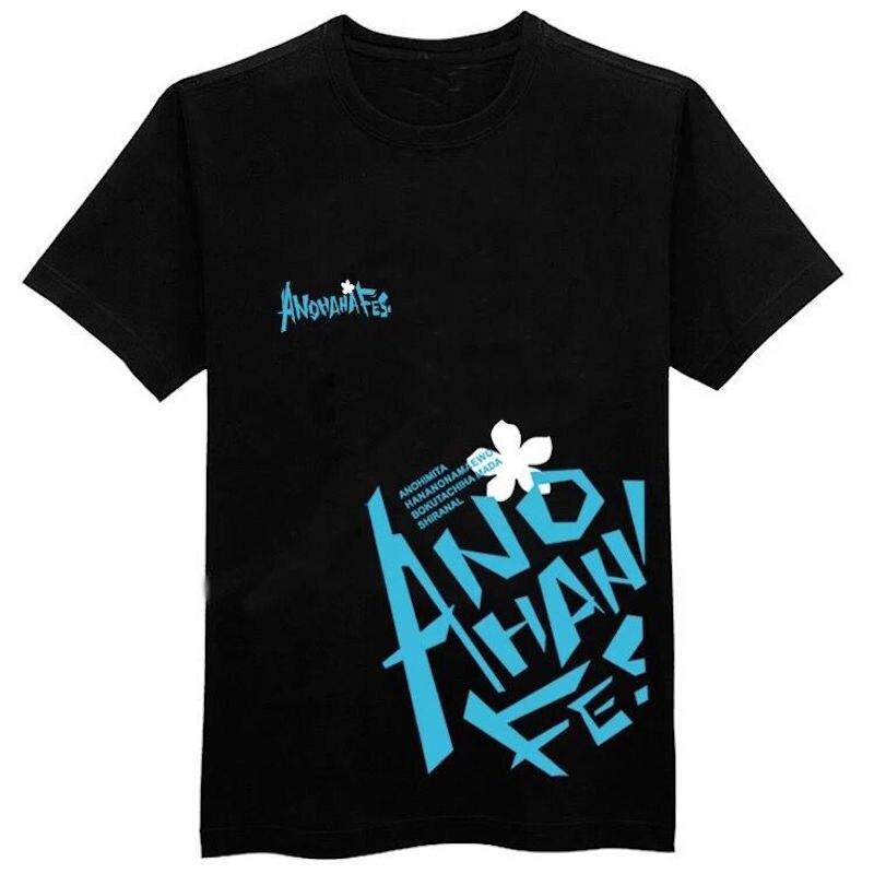 1d9110aebe7316 Mignon Licorne Japonais anime Anohana t-shirt en coton casual t-shirt femme  hommes femmes t-shirt filles vêtements d été tops t-shirts