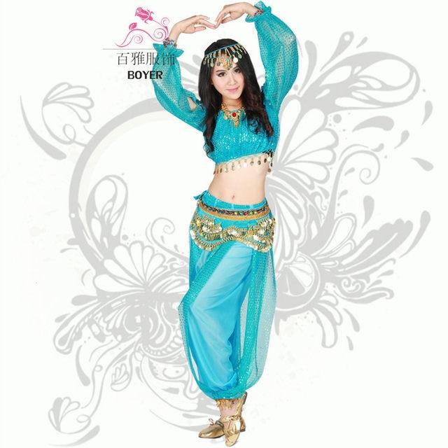 princess jasmine costumes for women aladdin halloween costumes tops + pants aladdin and jasmine adult blue genie aladdin costume  sc 1 st  Aliexpress & Online Shop princess jasmine costumes for women aladdin halloween ...